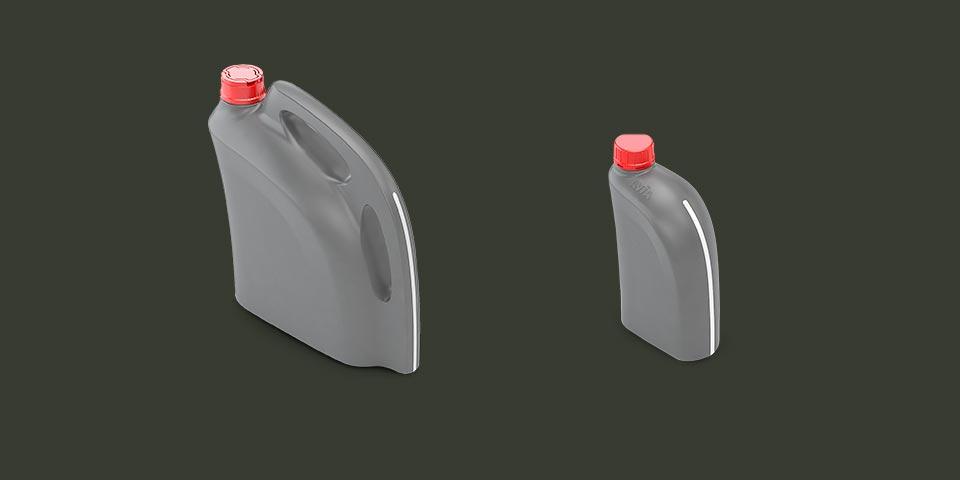 Butelki na olej silnikowy — ergonomia, estetyka, produkcyjność.